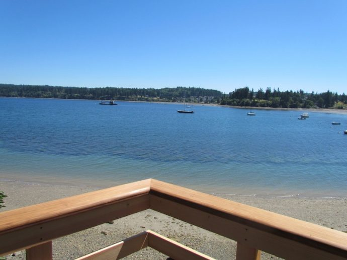 water view from beach deck
